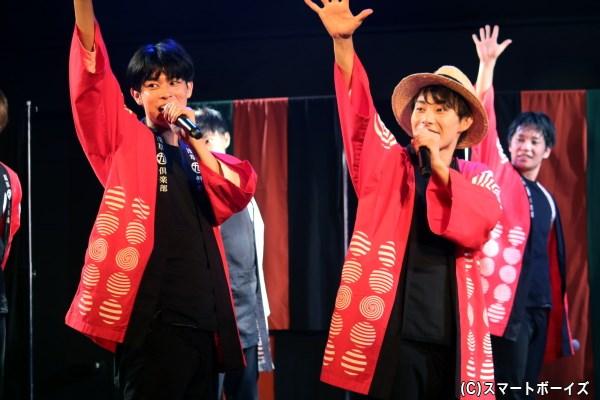 ストーリー本編後には、ウズイチの新曲『千客万来御礼』もステージ初披露!