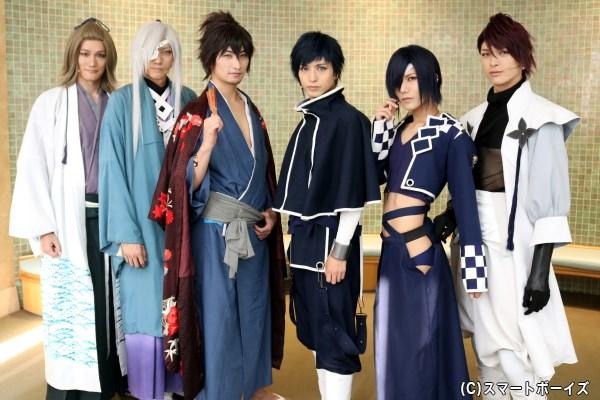 (左から)寿里さん、小坂涼太郎さん、伊万里有さん、中村優一さん、宮城紘大さん、遊馬晃祐さん