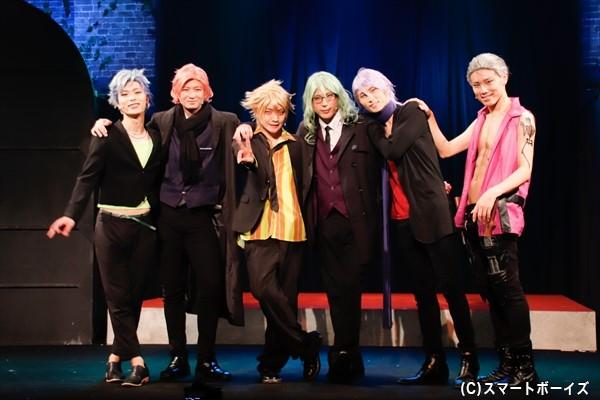 (左より)佐藤慎亮さん、山内圭輔さん、堂本翔平さん、杉江優篤さん、輝海さん、馬庭良介さん