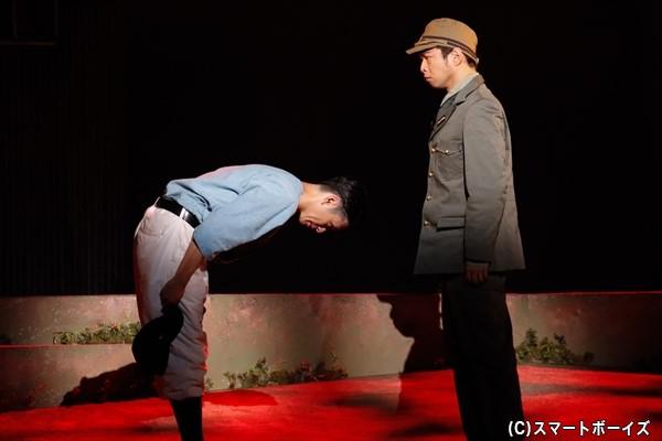 穂積は海軍中尉に野球をさせてほしいと直談判!