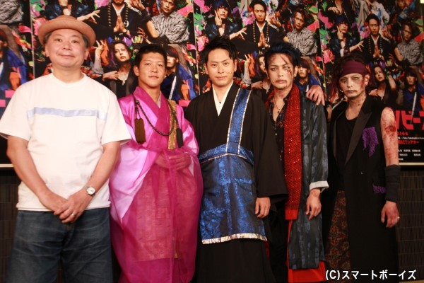 (左より)鈴木おさむさん、駿河太郎さん、山下健二郎さん、久保田悠来さん、藤田玲さん
