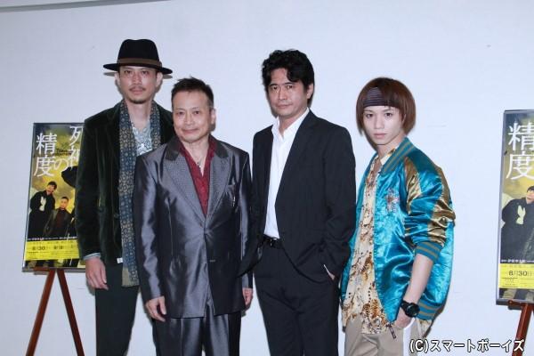 (左より)細見大輔さん、ラサール石井さん、萩原聖人さん、植田圭輔さん