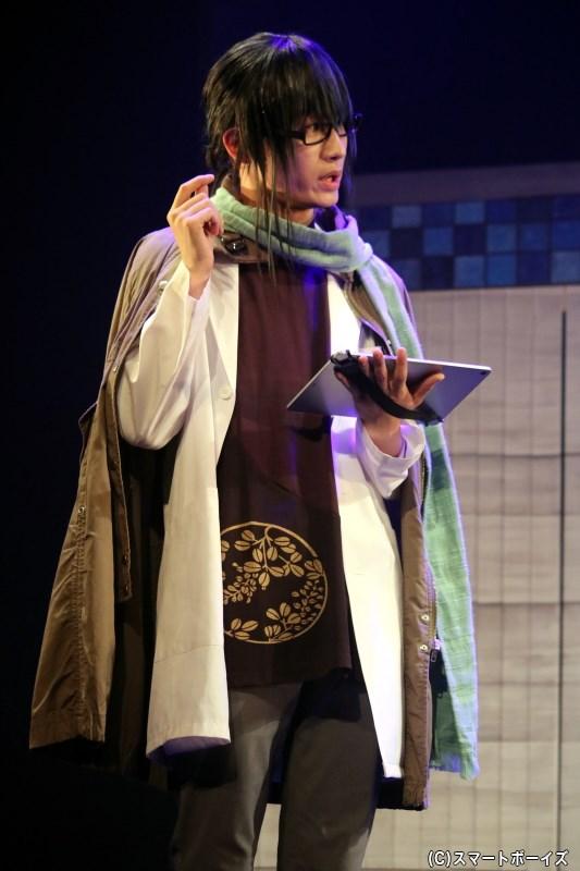 鹿折林檎役の天野眞隆さん