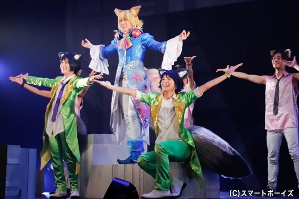 キラキラオーラを放ち圧倒的人気を誇るトライクロニカ(左からゆうたろうさん、鎌苅さん、木原瑠生さん)