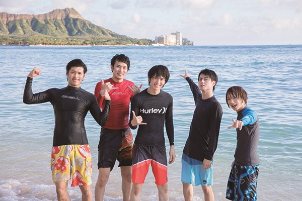(左より)岸本卓也さん、白柏寿大さん、和田雅成さん、松村龍之介さん、植田圭輔さん