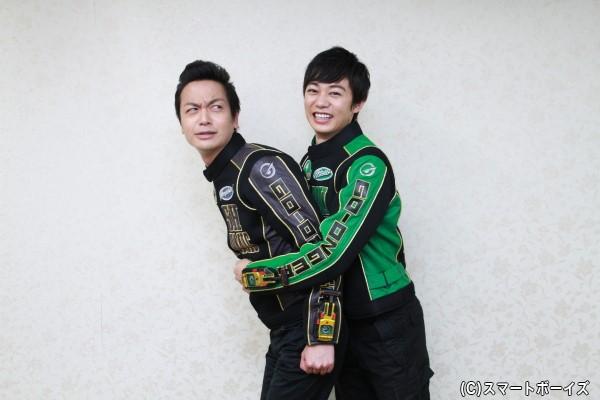(おまけ)碓井さんが海老澤さんを捕えるという、なかなか見られない2ショットポーズ