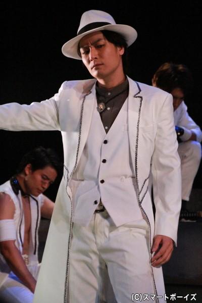 「華舞綺TOWN(カブキタウン)」を支配する徳川組のボス・徳川秀忠役の八神蓮さん