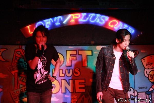 『Justiφ's』を熱唱する2人