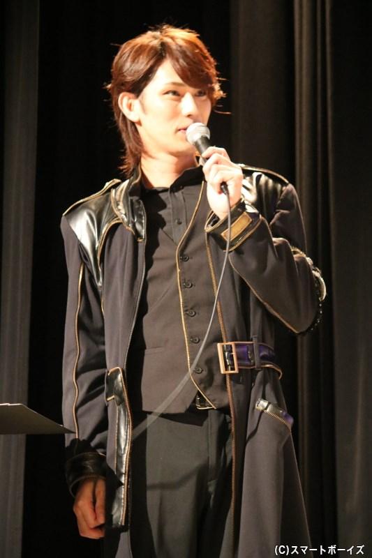 トークMCを務めた、黒子/百瀬多々良役の小谷嘉一さん
