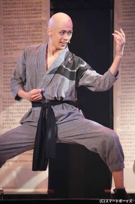 義理人情に熱い男気キャラ:道卓(どうたく)役の前川優希さん