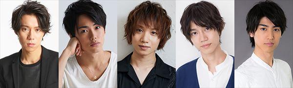 (左から)伊勢大貴、内海啓貴、植田圭輔、高橋健介、井阪郁巳