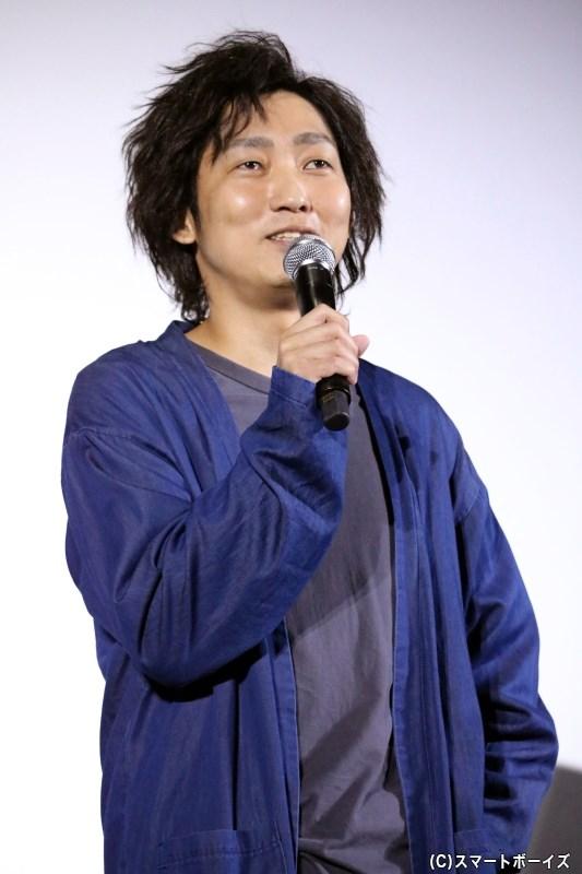 主人公・爆岡弾十郎(ばくおか だんじゅうろう)役の石田明さん
