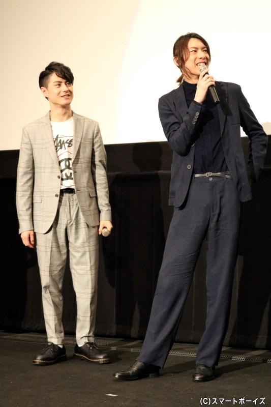それぞれ異なる雰囲気で、ジャケットスタイルを着こなしていた松村さん&北園さん