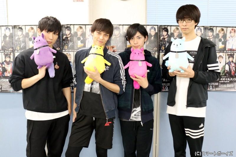 (左から)日向野祥さん、瀬戸啓太さん、阿部快征さん、小林涼さん