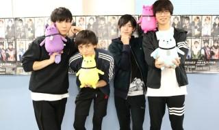 (左から)SolidSキャスト・日向野祥さん、瀬戸啓太さん、阿部快征さん、小林涼さん