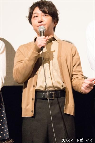 ハンドグリップの男役/辻本耕志さん