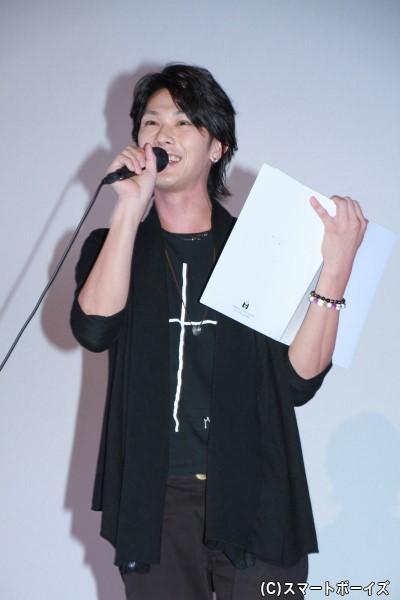 今回のMCを務めた百瀬多々良役の小谷嘉一さん