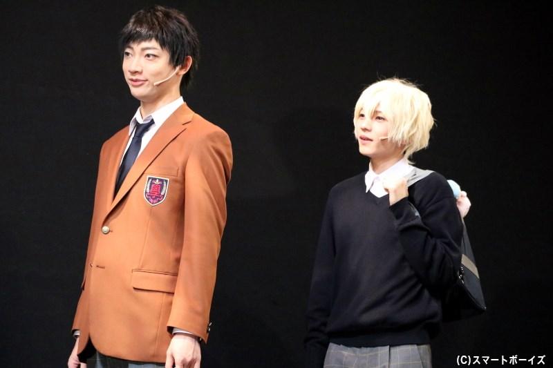 誠一郎と仲良しな西宮 諒(右・宮崎 湧さん)には、ほか生徒たちからヤキモチの声も?