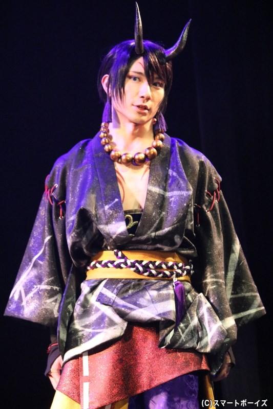 篁志季(酒呑童子)役の日向野祥さん