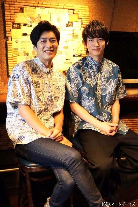 2人とも、ハワイで購入したアロハシャツ姿で登場してくれました!
