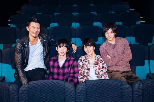 左から、岩永洋昭さん、和田雅成さん、廣瀬智紀さん、椎名鯛造さん