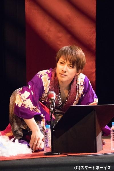 色っぽい花魁役を妖艶に演じた米原幸佑さん
