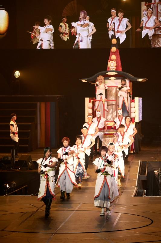 西軍による「祇園祭」では、山鉾を引いて登場
