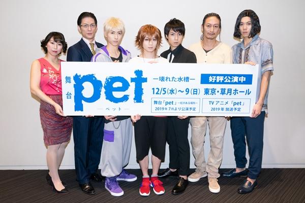 (左より)あまりかなりさん、君沢ユウキさん、谷佳樹さん、植田圭輔さん、桑野晃輔さん、萩野崇さん、伊勢大貴さん