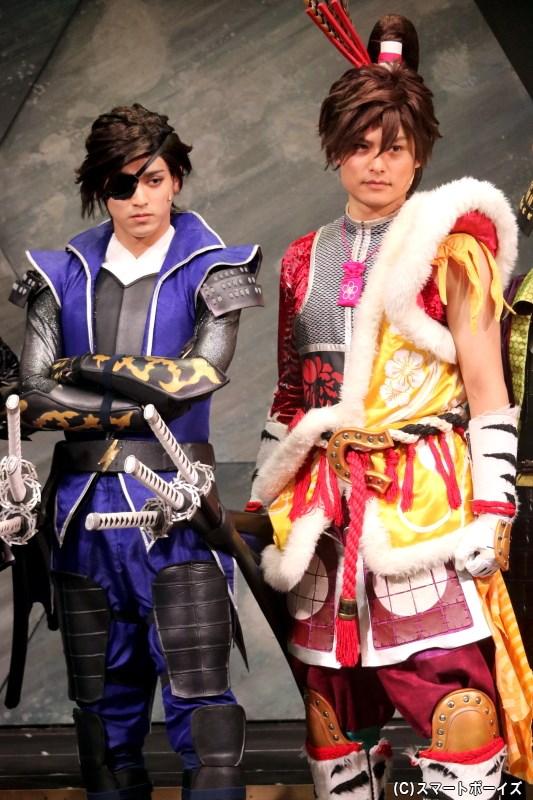 (左から)主演・伊達政宗役の眞嶋秀斗さん、前田慶次役の伊阪達也さん