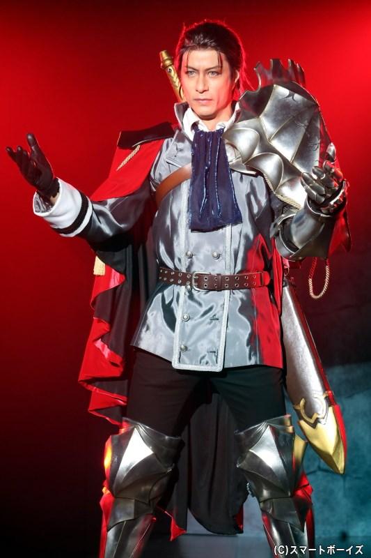騎士道を重んじる厳格な軍人、ミリドニアの騎士・リオット(進藤 学さん)