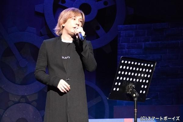 終演後のデザートタイムでは、ゲストによる歌唱が!ゲネプロのゲストは、蛇足さんでした