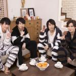 (左から)トークパートではパジャマ姿で登場した菊池修司さん、松村龍之介さん、高本 学さん、小波津亜廉さん