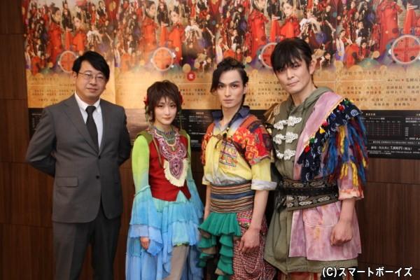 (左より)毛利亘宏さん、生駒里奈さん、松田凌さん、井俣太良さん