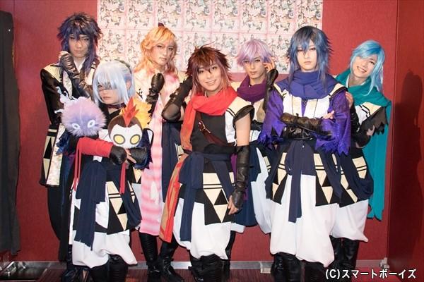 (左より)宮元英光さん、堀之内仁さん、鷲尾修斗さん、原野正章さん、武子直輝さん、秋葉友佑さん、一ノ瀬竜さん