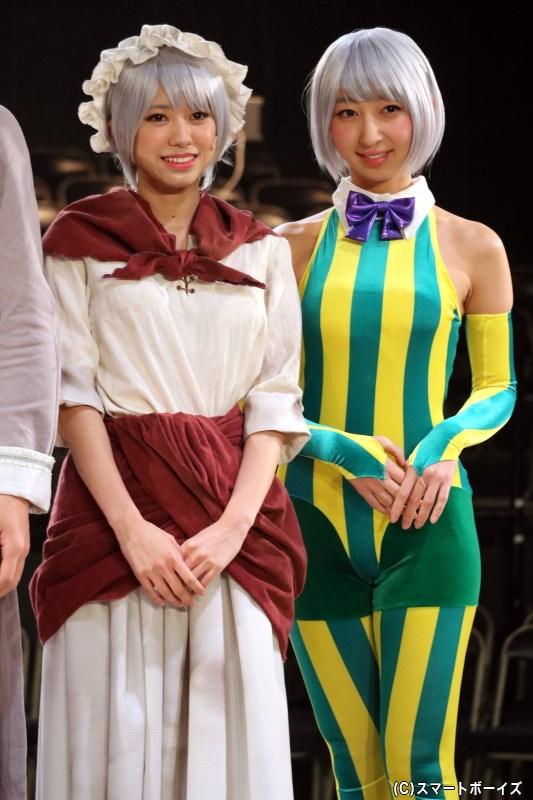 (左から)しろがね・フランシーヌ役の大西桃香さん(AKB48)、飯田里穂さん