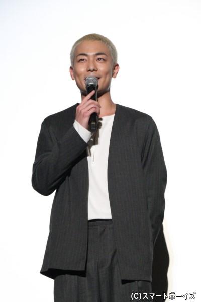 吉田健一役の田中俊介さん