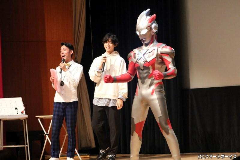 高橋さんがともに戦ってきた仲間・ウルトラマンエックスがまさかのゲスト登場!