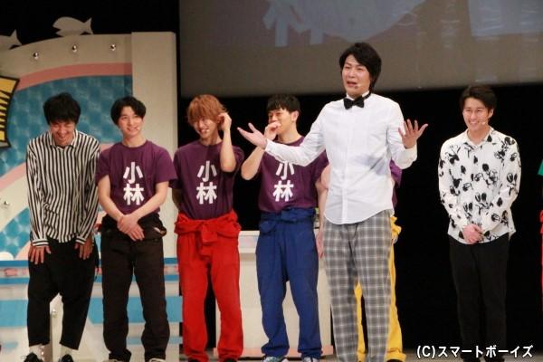 3月で卒業するメンバーを代表して八神さんが挨拶。感動のシーンになるはずが、王子ならでは天然コメントに他の出演者は大爆笑