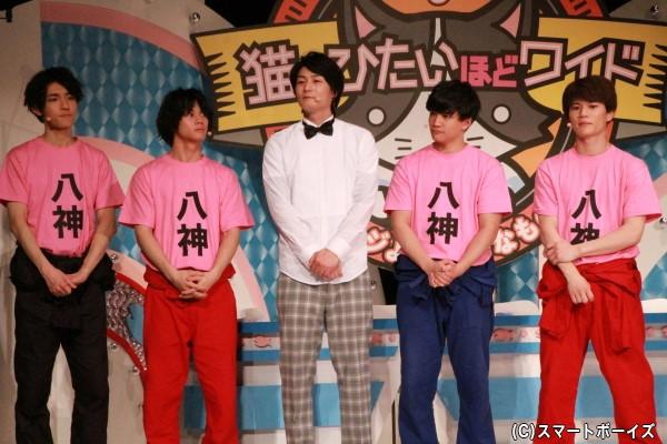 (左より)太田裕二さん、石原壮馬さん、八神蓮さん、朝日奈寛さん、蒼木陣さん