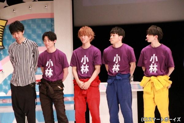 (左より)小林且弥さん、竹内寿さん、石渡真修さん、山形匠さん、山下永玖さん