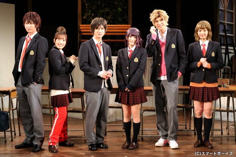 (左より)斉藤秀翼さん、梛野里佳子さん、高崎翔太さん、川嶋由莉さん、加藤将さん、長谷川かすみさん