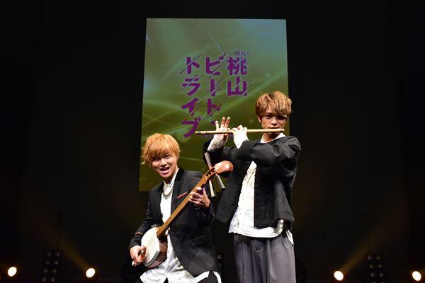 EXシアター六本木のステージにて 主演の山本亮太さんと原嘉孝さん