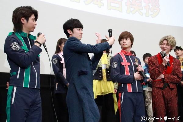 なかなか見られない濱さんの警察チェンジ