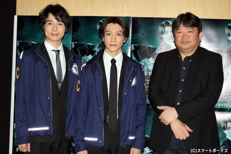 (左から)和田琢磨さん、鈴木拡樹さん、 演出の本広克行さん