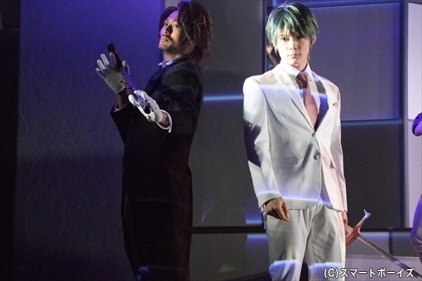 ユキヤを狙う謎のハンドシェイカー・ミドリ(右・中島礼貴さん)&セバ(左・奥田圭悟さん)