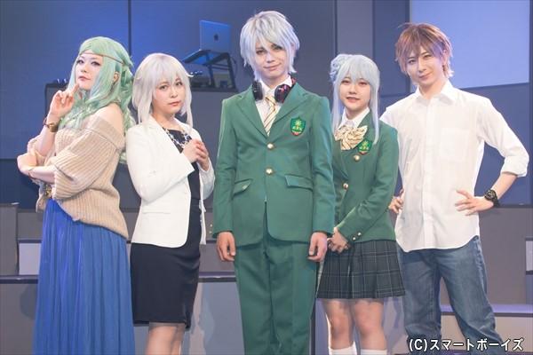 (左より)Fukiさん、平松可奈子さん、竹中凌平さん、山田麻莉奈さん、古畑恵介さん