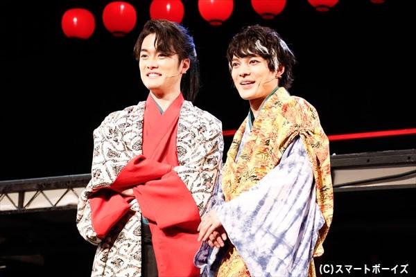 お調子者と堅物、正反対のキャラクターを演じる崎山さんと入江さん