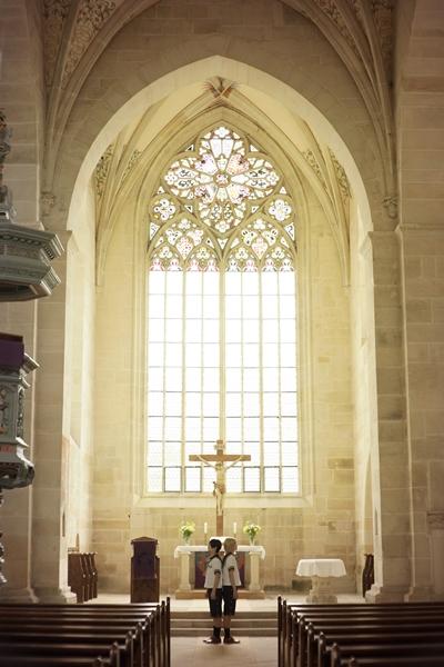 ドイツ「ベーベンハウゼン修道院」でのロケを敢行