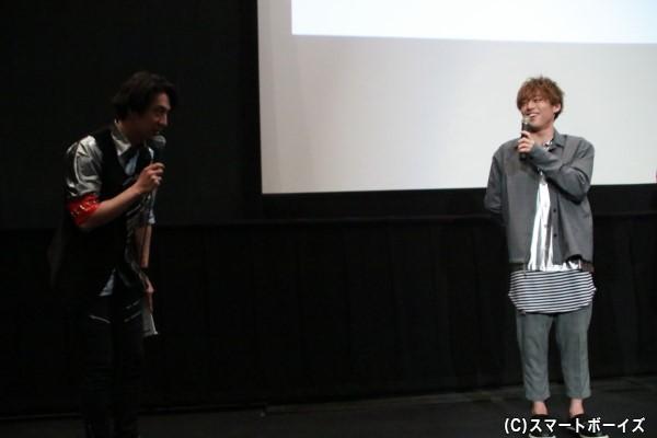 現場では会っていなかったという元木さんと松本さんが舞台上で挨拶