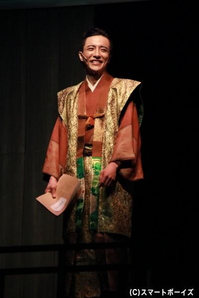 徳川家康役の竹石悟朗さん